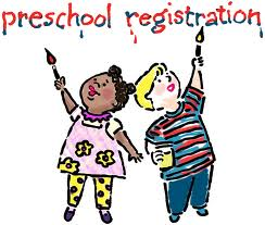 Preschool registration clipart.