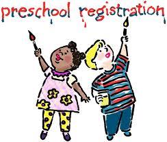 Preschool registration clipart.