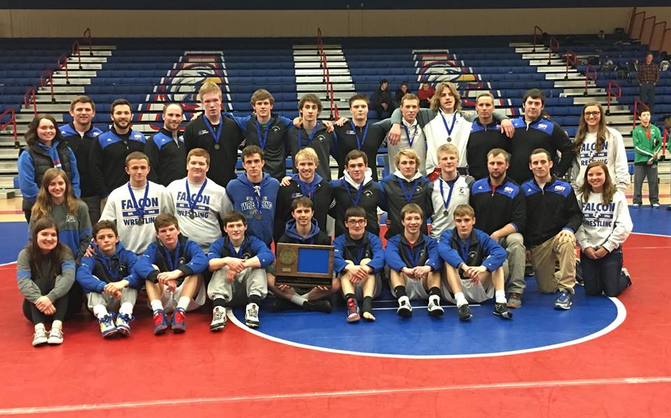 Foley Falcons Wrestling Team are the 2018 Section 6AA Champions. Feb. 17, 2018.