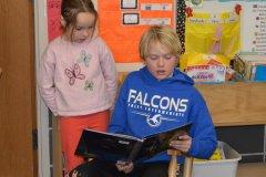Foley 5th graders read to 1st6 graders, Dec., 2016
