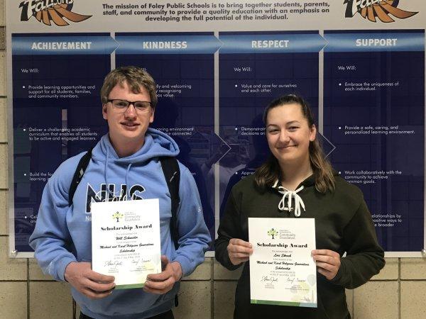 Scholarship Winners: William Schneider and Lori Skroch