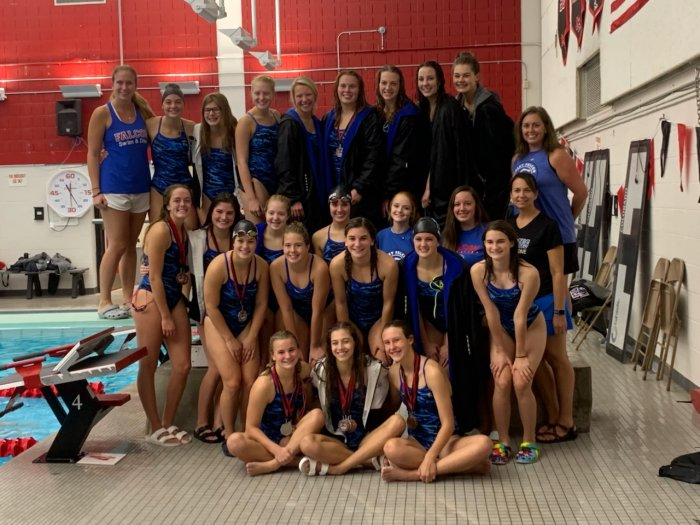 Falcon Swim and Dive team place 2nd at Milaca Invitational.