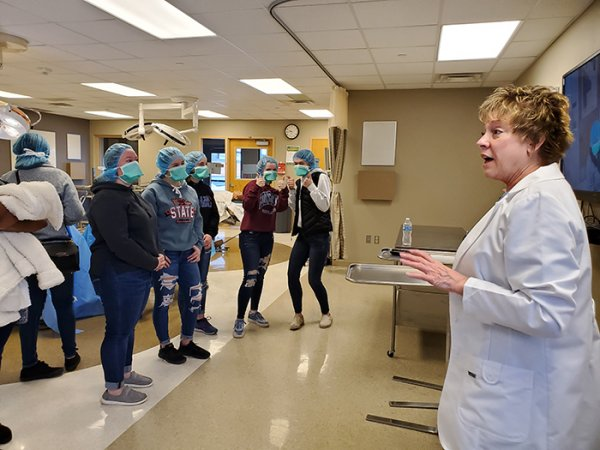 Ms. Score's Science class exploring various medical fields at St. Cloud Tech.