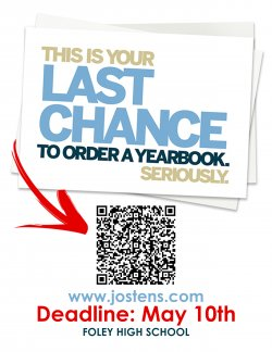 Last chance to order a 2020-2021 Foley High School Yearbook!