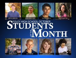 Foley High School October Students of the Month