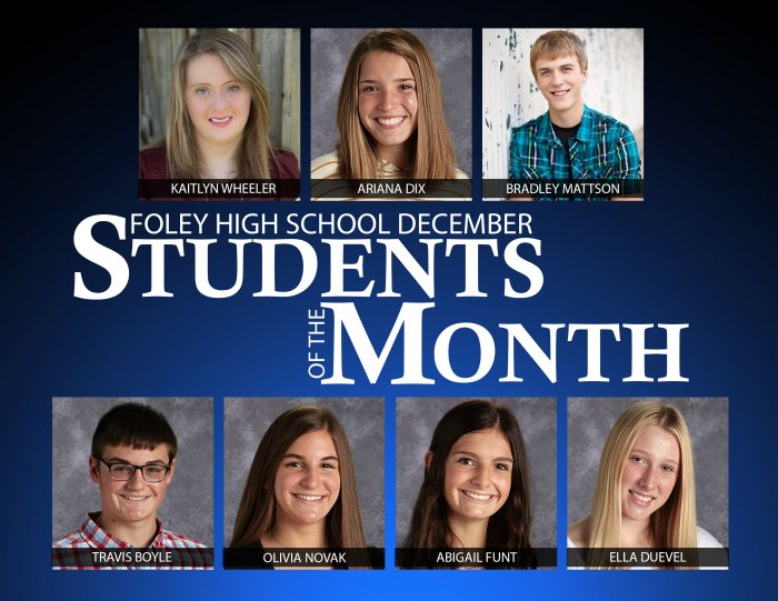 Foley High School December Students of the Month