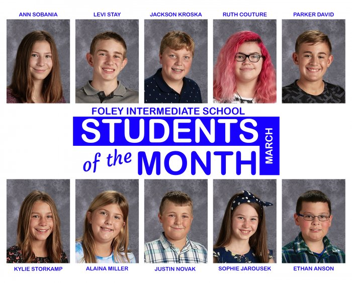 FIS March Students of the Month