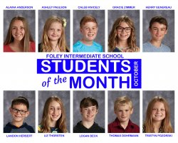 FIS October Students of the Month