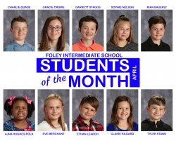 FIS April Students of the Month