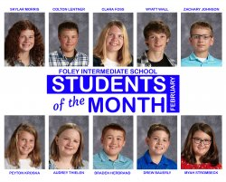 Foley Intermediate School February Students of the Month