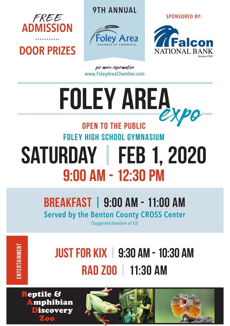 Foley Area Expo - Saturday, February 1st 9am-12:30pm