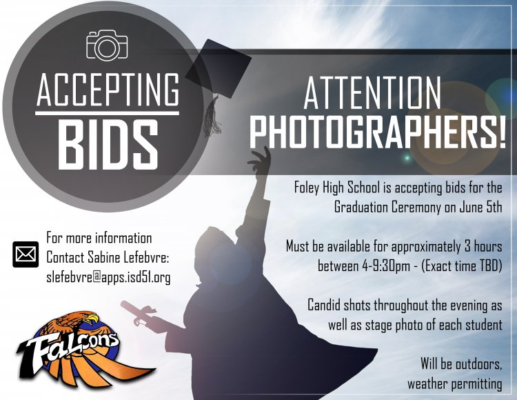 Attention Photographers! Accepting Bids!