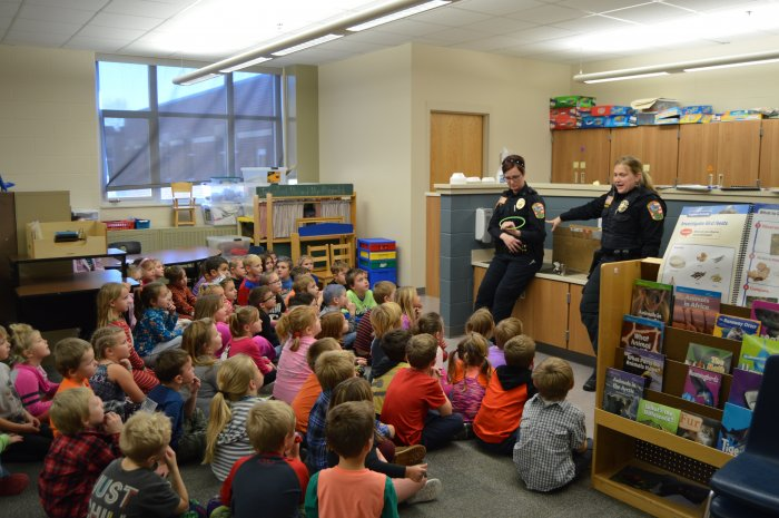 FES Kindergarten Safety talk with Officer Katie.