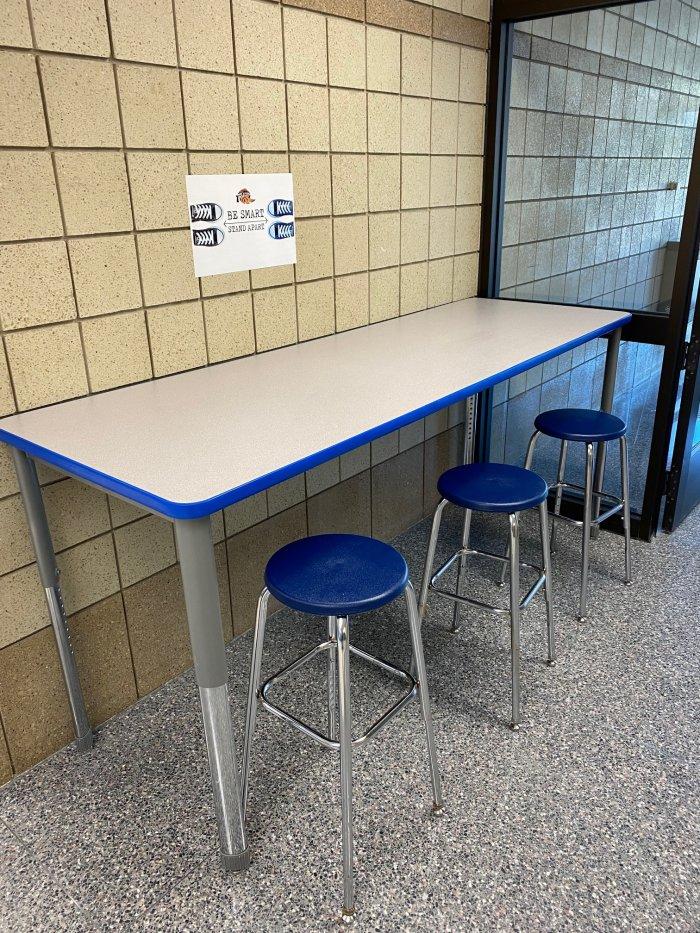 New work stations around Foley High School