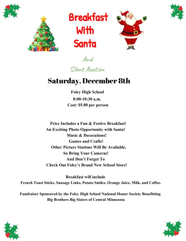 Breakfast With Santa and Silent Auction