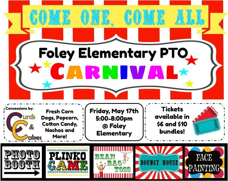 Foley Elementary School PTO Carnival - 5/17/19