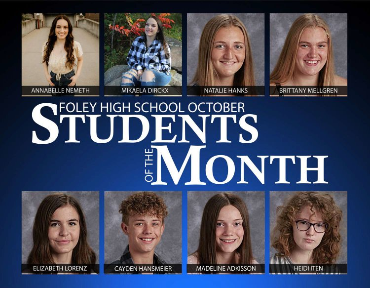 Congratulations to the Foley High School October Students of the Month!
